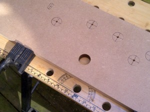First hole drilled